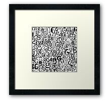 The Letter G Framed Print