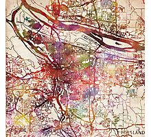 Portland map Photographic Print