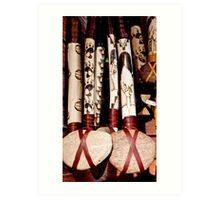 Tourist Tomahawks Art Print