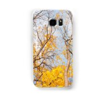 Yellow autumn leaves on trees  Samsung Galaxy Case/Skin