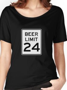 BEER LIMIT 24 Women's Relaxed Fit T-Shirt