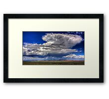 Storm over the Badlands Framed Print