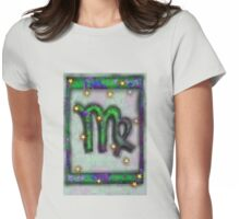 Virgo Astrology Symbol Womens Fitted T-Shirt