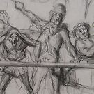 circus parade study - daumier by Joanna Fountain