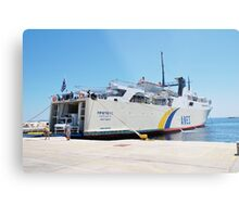 Proteus ferry docked at Alonissos Metal Print