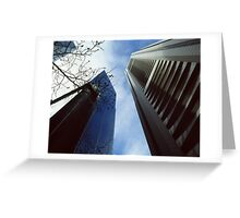 Skyscrapers and the sky Greeting Card