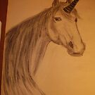 THIS IS A UNICORN THAT I SKETCHED IN ART SCHOOL by TSykes