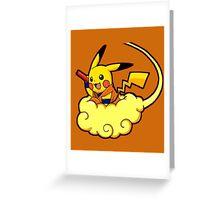 pikachu super saiyan Greeting Card