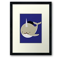Dapper French Narwhal Framed Print