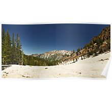 July Snowpack Little Cottonwood Canyon Poster