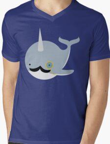 Sir Narwhal Mens V-Neck T-Shirt