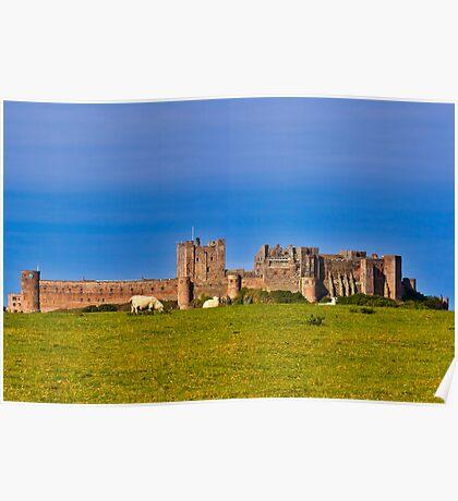 Bamburgh Castle Northumberland UK Poster