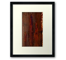 Textures - Bleeding Gums Framed Print
