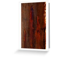 Textures - Bleeding Gums Greeting Card