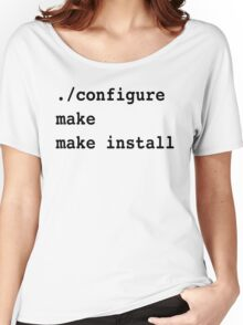 ./configure make make install for sysadmins and Linux users Women's Relaxed Fit T-Shirt
