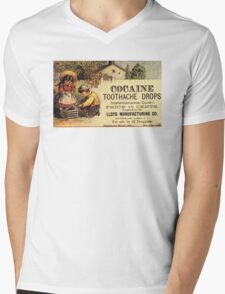 Cocaine Tooth Drops Mens V-Neck T-Shirt