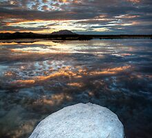 White Stone Sunset by Bob Larson
