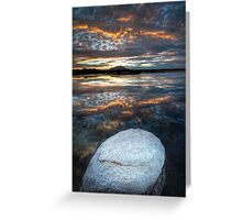 White Stone Sunset Greeting Card