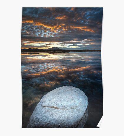 White Stone Sunset Poster
