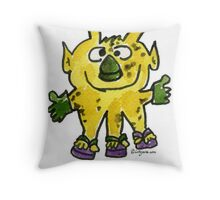 Funny Cartoon Monstar 003 Throw Pillow