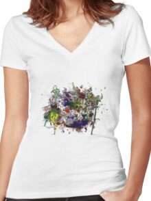 Welcome to chaos Women's Fitted V-Neck T-Shirt