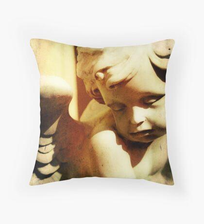 Garden Cherub Throw Pillow