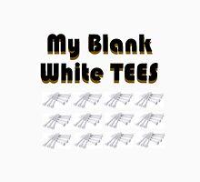 MY Blank white TEES Mens V-Neck T-Shirt