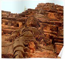 Detail on the Gopuram of the Vithala Temple, Hampi Poster