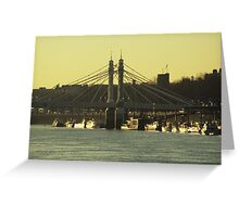 Albert Bridge Greeting Card