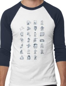 A - Z of 8-bit video games Men's Baseball ¾ T-Shirt