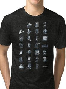 A - Z of 8-bit video games Tri-blend T-Shirt