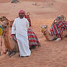 Cameleer with Camels by Mark Whittle