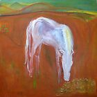 White Pony You Yangs by Karen Gingell
