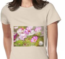 Cosmos Bipinnatus flowering Womens Fitted T-Shirt