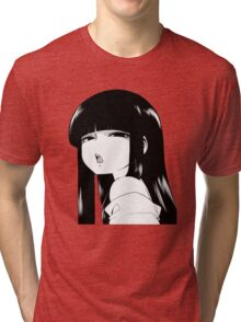 Black Haired Girl Tri-blend T-Shirt