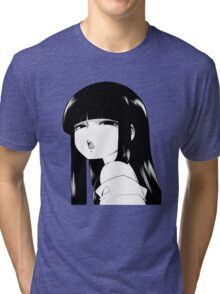 Black Haired Girl Tri-blend T-Shirt