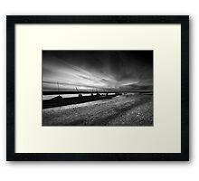 Sunset Silhouette BW Framed Print