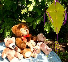 MR.TEDDY AND NEPHEWS LET A KITE FLY by Heidi Mooney-Hill