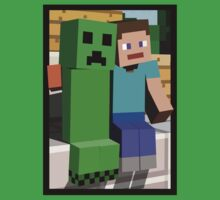 Minecraft Steve and Creeper 2 Kids Clothes