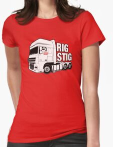 Top Gear - Rig Stig. The Stig's Lorry Driving Cousin Womens Fitted T-Shirt
