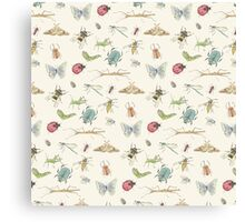Insect Pattern Canvas Print