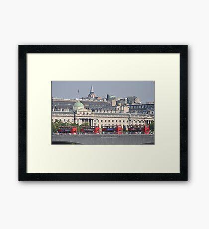 Red Buses Framed Print