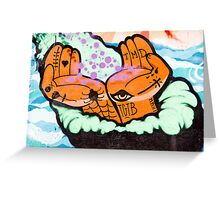 Abstract Graffiti detail with hands. Greeting Card