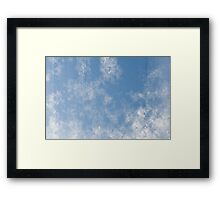 Abstract of condensation water flowing Framed Print