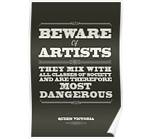 Beware of Artists Poster