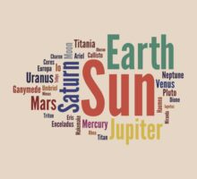 Solar System Word Cloud by destinysagent