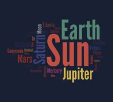 Solar System Word Cloud Kids Clothes