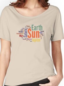 Solar System Word Cloud Women's Relaxed Fit T-Shirt