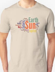 Solar System Word Cloud T-Shirt