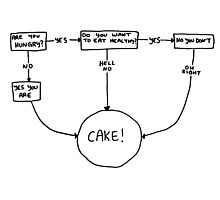 CAKE flow chart Photographic Print